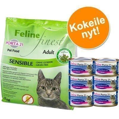 2 kg Porta 21 + 6 x 90 g Porta-märkäruokaa pakettihintaan! - Finest Cats Heaven