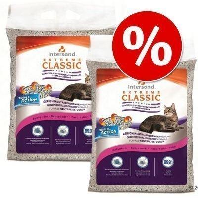 2 x 15 kg Extreme Classic -säästöpakkaus - Lavender-kissanhiekka (2 x 15 kg)