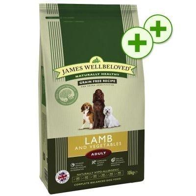 2x zooPlusPisteitä: 15/10 kg James Wellbeloved - Senior Lamb & Rice (15 kg)