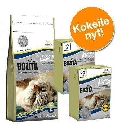 400 g Bozita + 2 x 190 g Bozita kokeiluhintaan! - Indoor & Sterilised (kuiva + märkä)