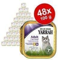 48 x 100 g Yarrah -säästöpakkaus - Wellness Pâté: naudanliha & sikuri