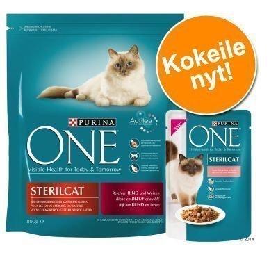 800 g Purina ONE + 6 x 85 g Purina ONE -märkäruokaa - 800 g Neutered Cat