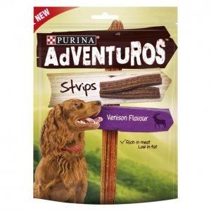 Adventuros Koiran Herkku 90 G Mini Strips Metsäkauriin Makuinen