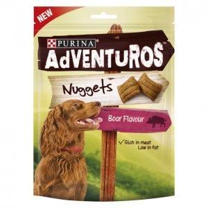 Adventuros Koiran Herkku 90 G Nuggets Villisian Makuinen