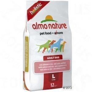 Almo Nature Adult Large Salmon & Rice - säästöpakkaus: 2 x 12 kg