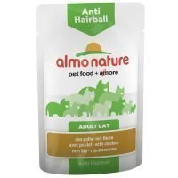 Almo Nature Anti Hairball Pouch 6 x 70 g - kana