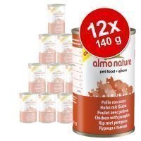 Almo Nature Classic -säästöpakkaus: 12 x 140 g - tonnikala & katkarapu