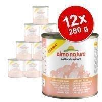 Almo Nature Classic -säästöpakkaus: 12 x 280 g - lohi & kurpitsa