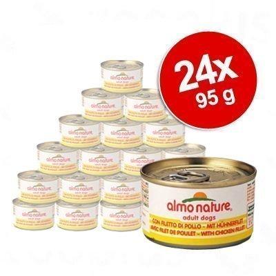 Almo Nature Classic -säästöpakkaus 24 x 95 g - nauta & kinkku