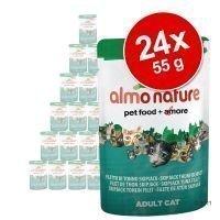 Almo Nature Green Label Raw -säästöpakkaus 24 x 55 g - Green Label Raw: kananrinta & ankanfile