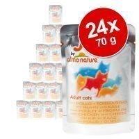 Almo Nature Jelly -säästöpakkaus 24 x 70 g - kana