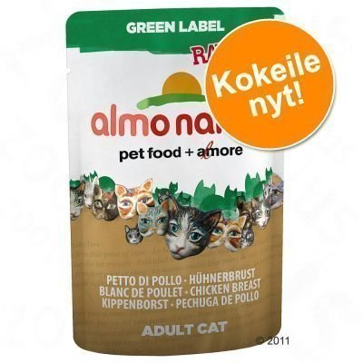 Almo Nature Label -lajitelmat: 12 pussia - Green Label Raw