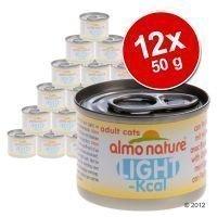 Almo Nature Light -säästöpakkaus 12 x 50 g - kananrinta & idän pieni tonnikala