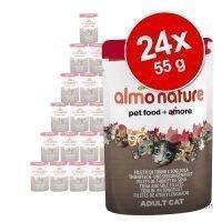 Almo Nature Rouge Label Filets -säästöpakkaus 24 x 55 g - Rouge Label Filets: kanafile & surimi