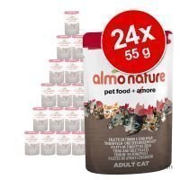 Almo Nature Rouge Label Filets -säästöpakkaus 24 x 55 g - Rouge Label Filets mix: kanavalikoima