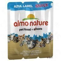 Almo Nature Snack Azul Label 3 x 5 g - säästöpakkaus: tonnikala (6 x 3 á 5 g)