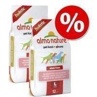Almo Nature -säästöpakkaus - 2 x 12 kg Adult Large Lamb & Rice