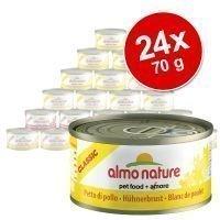 Almo Nature -säästöpakkaus: 24 x 70 g - Classic: kana & ananas
