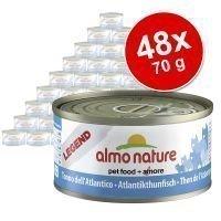 Almo Nature -säästöpakkaus: 48 x 70 g - Legend: tonnikala & katkarapu