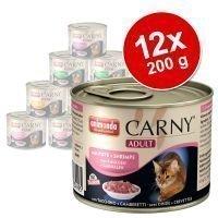 Animonda Carny Adult -valikoima 12 x 200 g - siipikarja- & nautalajitelma