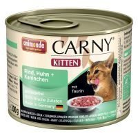 Animonda Carny Kitten 6 x 200 g - nauta & kalkkunansydän