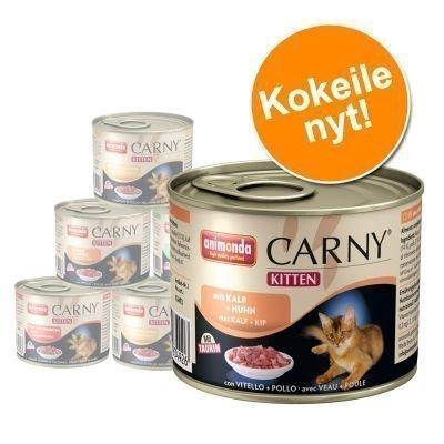 Animonda Carny Kitten -lajitelma 12 x 200 g - 4 nauta- ja siipikarjamakua