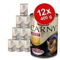 Animonda Carny -säästöpakkaus 12 x 400 g - naudanliha-siipikarjalajitelma