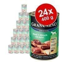 Animonda GranCarno Original -säästöpakkaus 24 x 400 g - nauta & ankansydän
