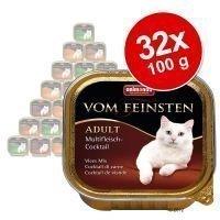 Animonda vom Feinsten Adult -valikoima 32 x 100 g - kala & liha