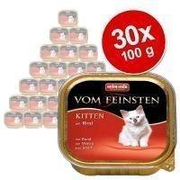 Animonda vom Feinsten Kitten -säästöpakkaus 30 x 100 g - naudanliha
