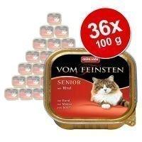 Animonda vom Feinsten Senior -säästöpakkaus 36 x 100 g - lajitelma (3 makua)