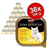 Animonda vom Feinsten for Neutered Cats 36 x 100 g - Mix I: kalkkuna + kalkkuna & taimen
