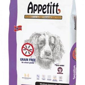 Appetitt Grain Free Sensitive Medium Breed 12kg
