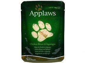 Applaws Cat Pouches Chicken & Aspargus 12x70g