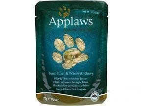 Applaws Cat Pouches Tuna & Anchovy 12x70g