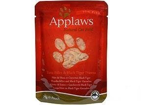 Applaws Cat Pouches Tuna & Prawn 12x70g