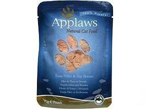 Applaws Cat Pouches Tuna & Seabream 12x70g