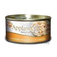 Applaws-kissanruoka 6 x 156 g - tonnikalafile & katkarapu