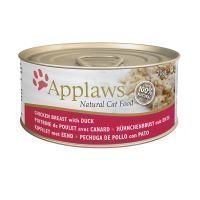 Applaws-kissanruoka 6 x 70 g - kananrinta & ankka
