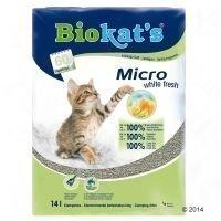 Biokat´s Micro White Fresh -kissanhiekka - säästöpakkaus: 2 x 14 l