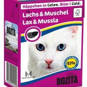 Bozita Lohta Ja Simpukkaa Sisältävät Bozita Feline Palat Hyytelössä 16 X 370 G