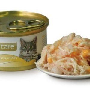 Brit Care Cat Chicken Breast Cheese Burk 24x80g
