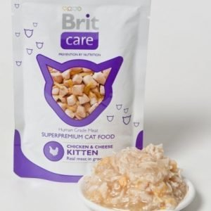 Brit Care Cat Chicken Cheese Kitten Pouch 24x80g