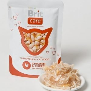 Brit Care Cat Chicken Cheese Pouch 24x80g