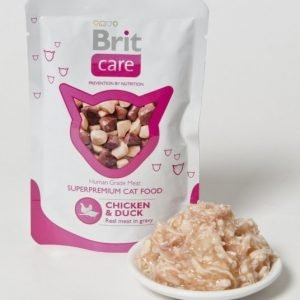 Brit Care Cat Chicken Duck Pouch 24x80g