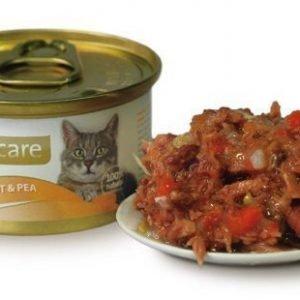 Brit Care Cat Tuna Carrots Peas Burk 24x80g