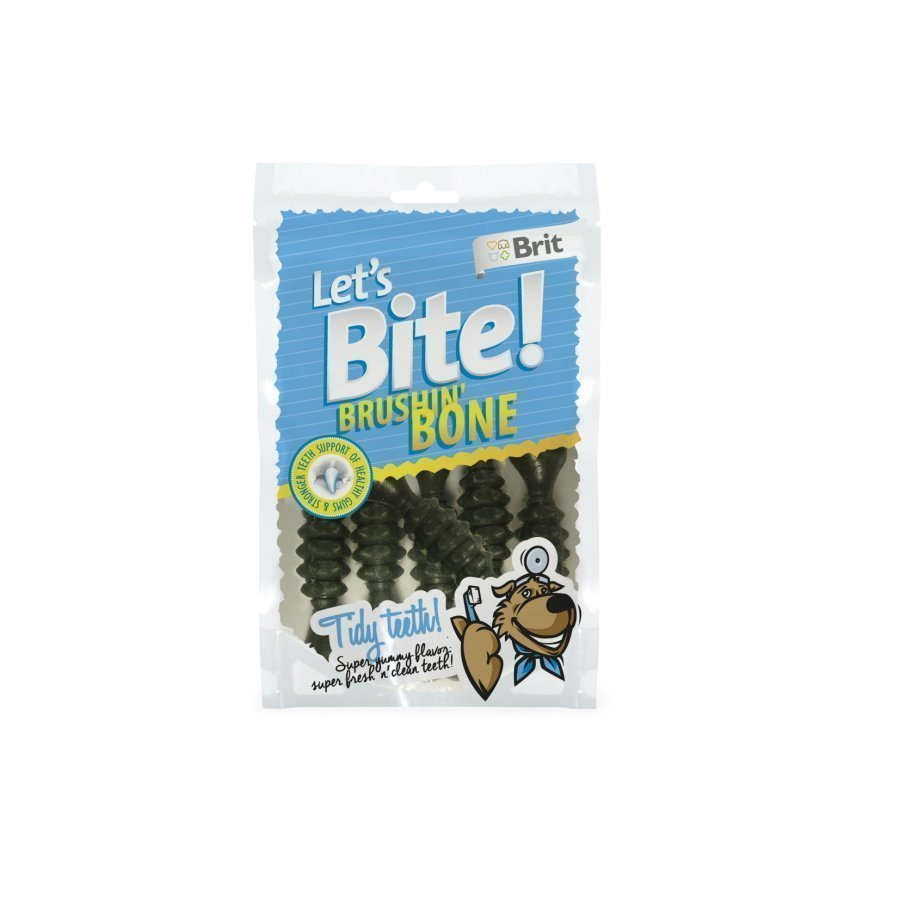 Brit Let's Bite Dental Brushin Bone 90g