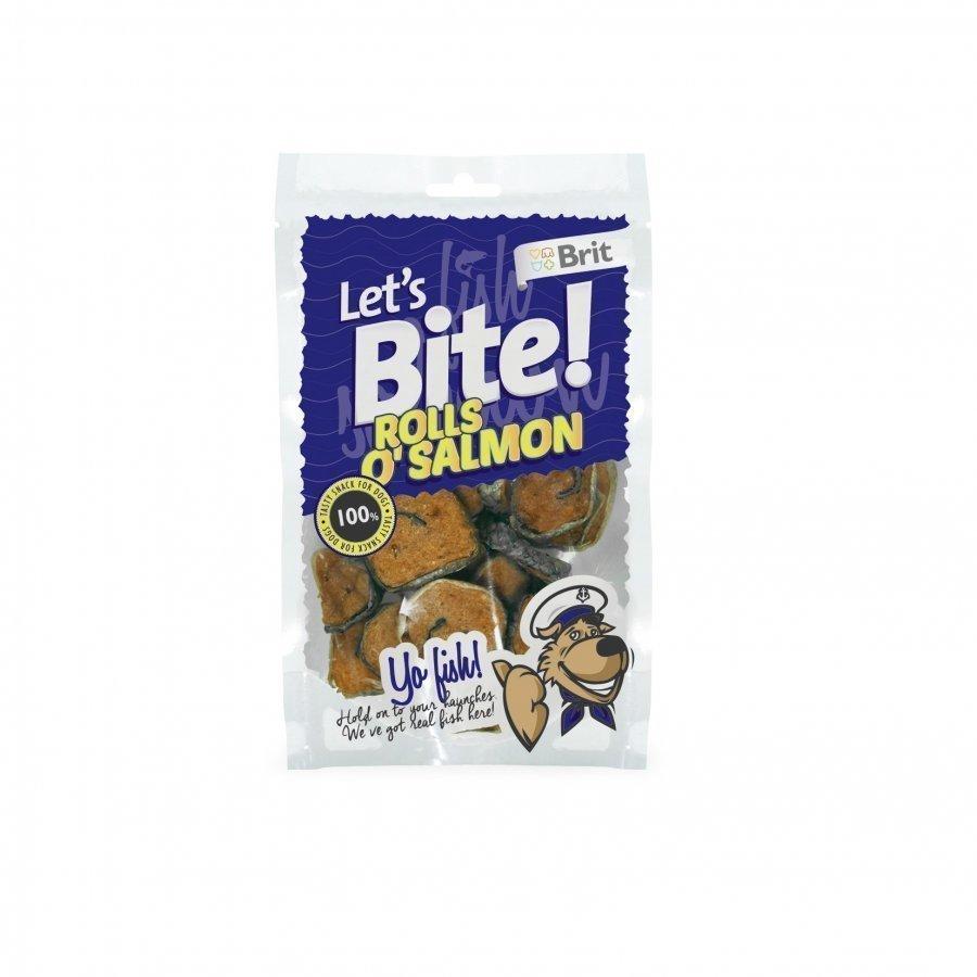 Brit Let's Bite Rolls O Salmon 80g