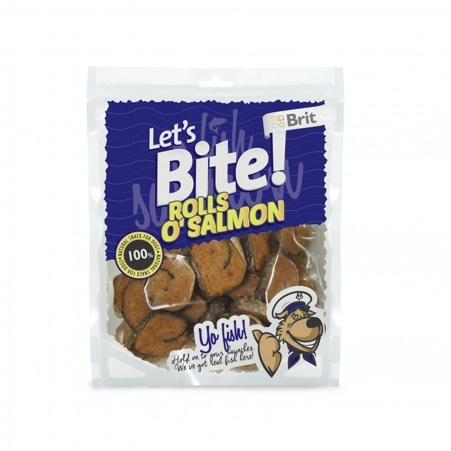 Brit Let's Bite Rolls O Salmon Storpack 400 G