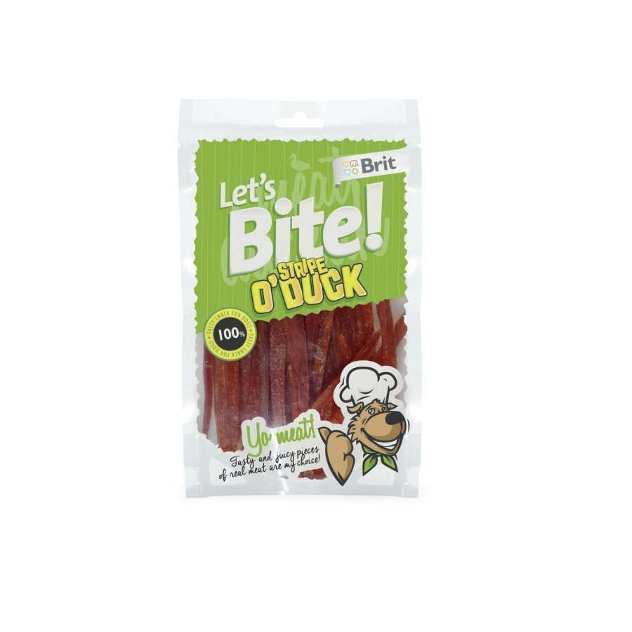 Brit Let's Bite Stripe O Duck 80g